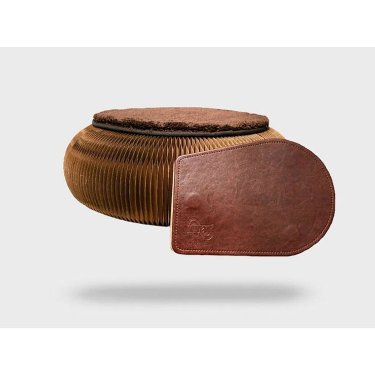 Foldable Brown Pouffe
