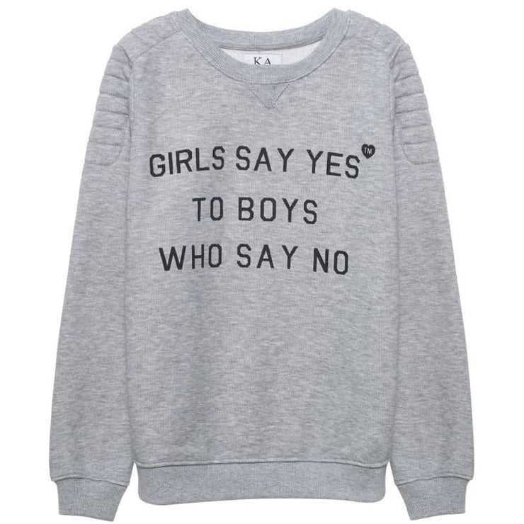 GIRLS SAY YES - SWEAT WITH ARM DETAIL