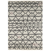 IVORY TRIBAL HAND WOVEN DHURRIE