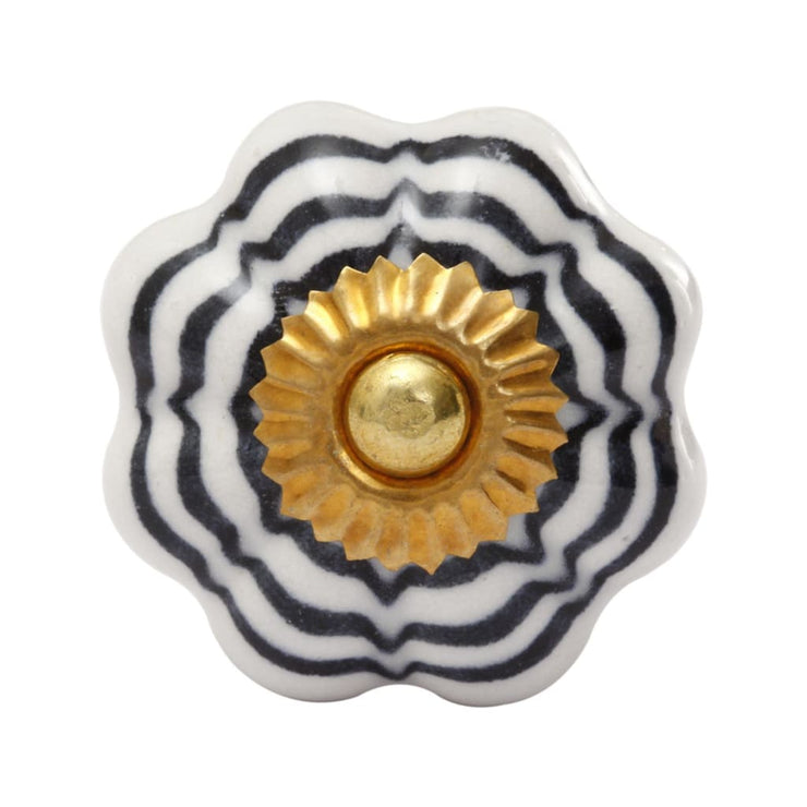 LARGE FLOWER DOOR KNOB