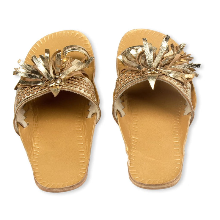 LEELA SLIPPERS GOLD