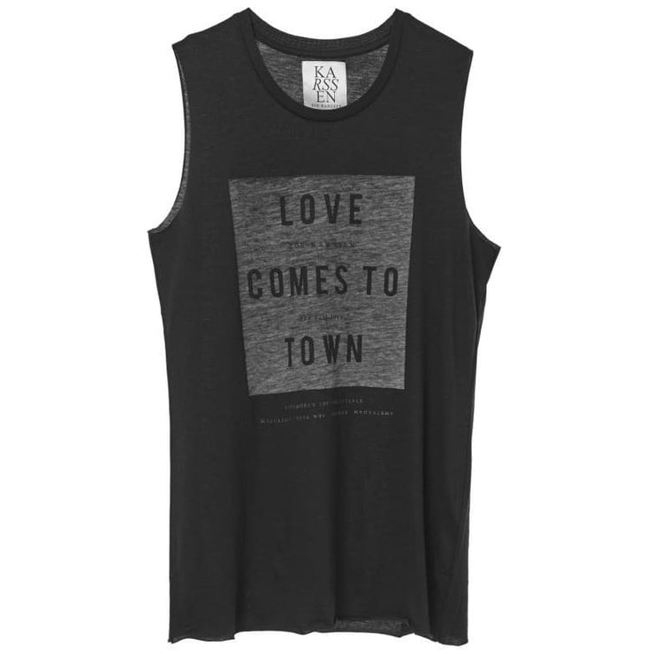 LOVE COMES TO TOWN - LOOSE FIT MUSCLE TANK