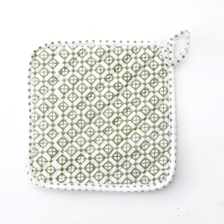 MARNIE GREEN POT HOLDER