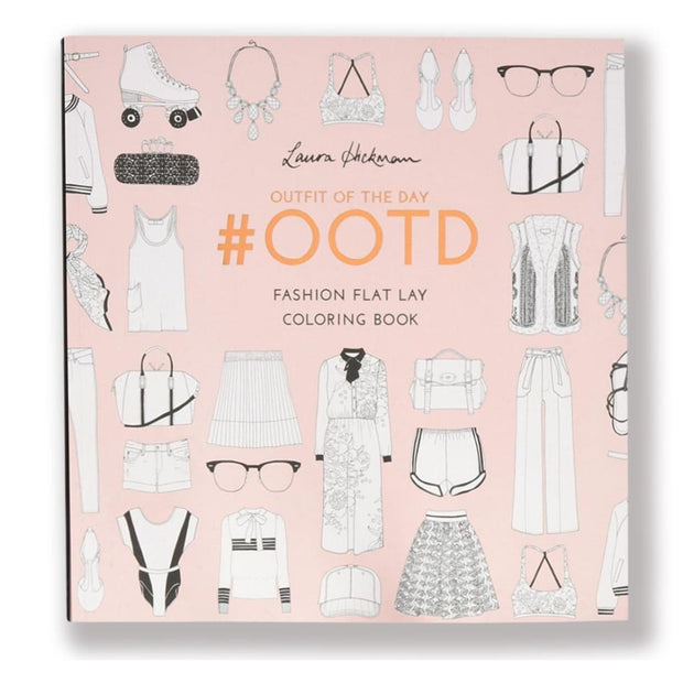 #OOTD: FASHION FLAT LAY COLOURING BOOK