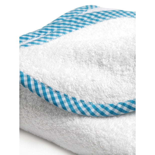 Organic Blue Checks Junior Towel