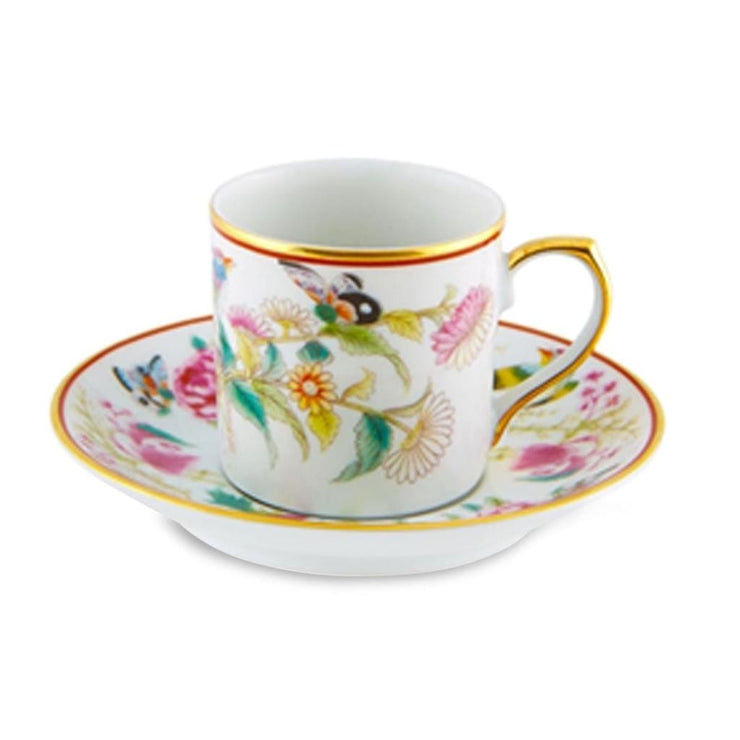 PAÇO REAL Coffee Cup and Saucer Flowers (Set of 4)