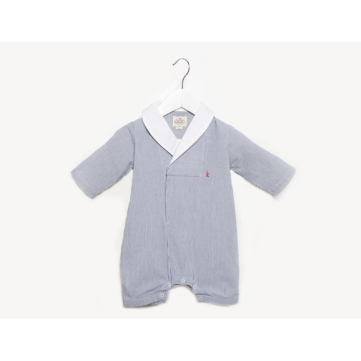 Pinstripe Romper (blue and white)