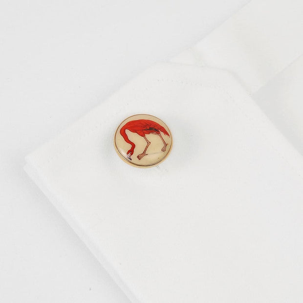 SIGNATURE FLAMINGO CUFFLINKS