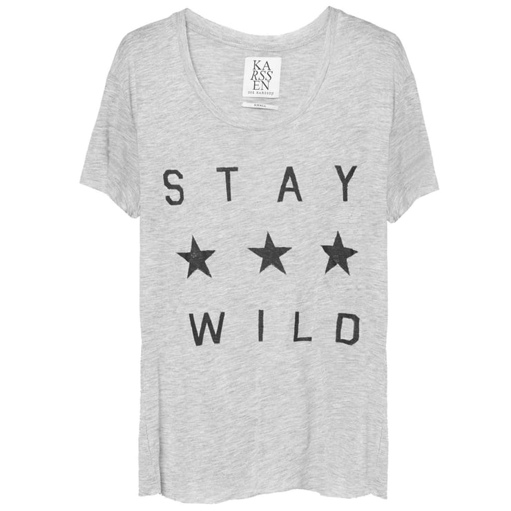 STAY WILD - BOX FIT SHORT SLEEVE Tee
