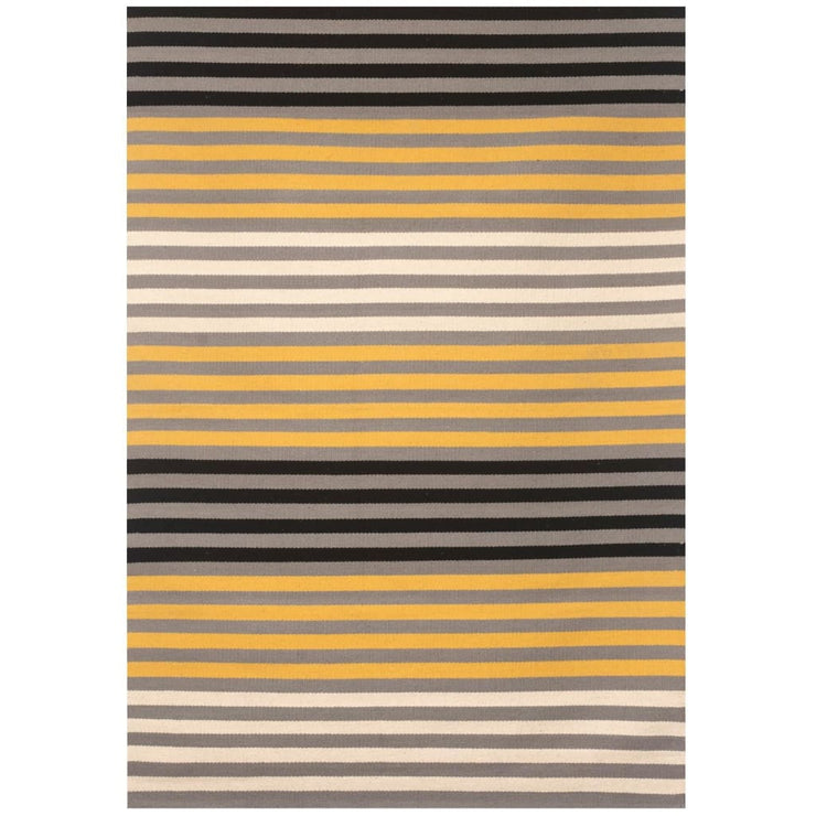 YELLOW STRIPES COTTON DHURRIE