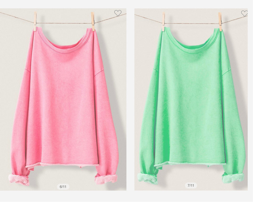 French Terry Sweatshirt (bubblegum or tea)