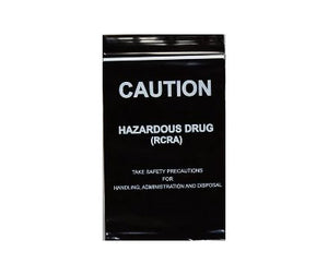 Zip Bag BLACK - Hazardous Drug