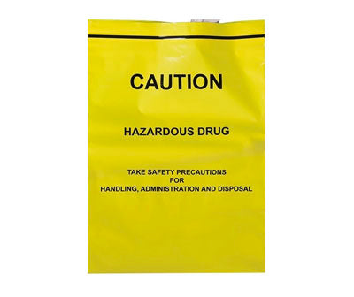 Zip Bag YELLOW - Hazardous Drug