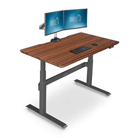 Image of VARIDESK – Full Electric Desk – PRODESK 48 Electric Reclaimed Wood - 3-Button Memory Settings