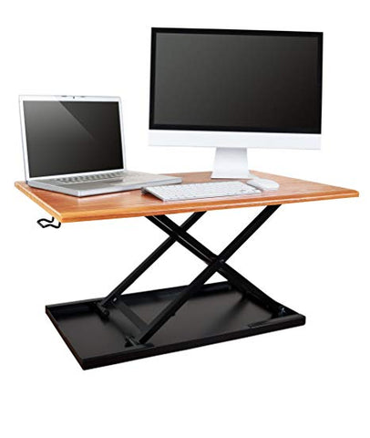 Image of Air Rise Standing Desk Converter – Adjustable Height, Single Tier