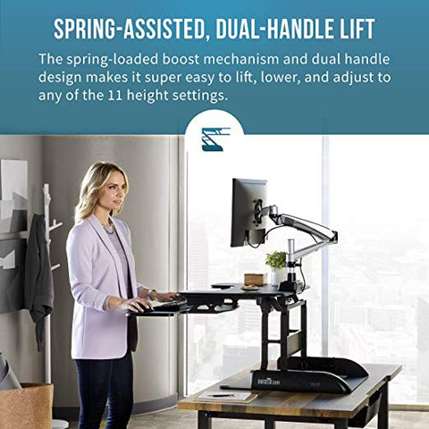 VARIDESK - Height-Adjustable Standing Desk - ProPlus 30