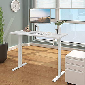 DEVAISE Height Adjustable Standing Desk Frame with Crank Handle