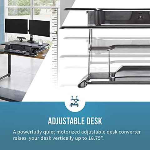 VARIDESK – Height Adjustable Converter - Pro Plus 36 Electric & Power Hub for Dual Monitors