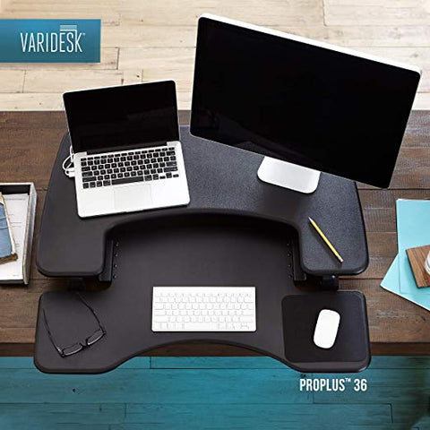 VARIDESK – Height Adjustable  Converter – Pro Plus 36  for Dual Monitors