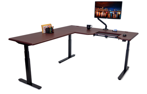 Image of Lander L-Desk with SteadyType