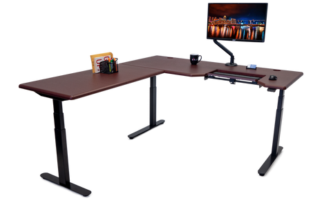 Lander L-Desk with SteadyType
