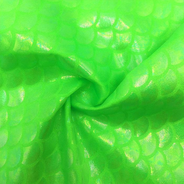 SP-Mermaid 101 Spandex Tricot with Rainbow clear shell-$14 per yard- $5 per color card