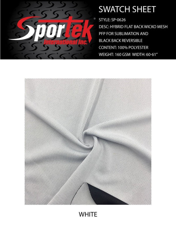 SP-0626 Hybrid flat back wicko mesh with PFP for sublimation