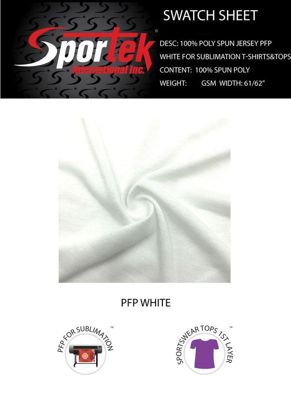 SP-SJ150 | Spun poly soft hand T-shirt Jersey PFP white for sublimation with cotton hand feel Spandex, Stretch Mesh- Spandexbyyard - fabrics, fabric for swimwear, fabric for yogawear, swimwear fabric, yogawear fabric, fabric sublimation, sublimation fabric, los angeles, california, usa, spandex, sale, swimwear, yoga wear, lycra, shiny, neon, printed, fabric by the yard, spandex lycra, nylon lycra, lycra fabric