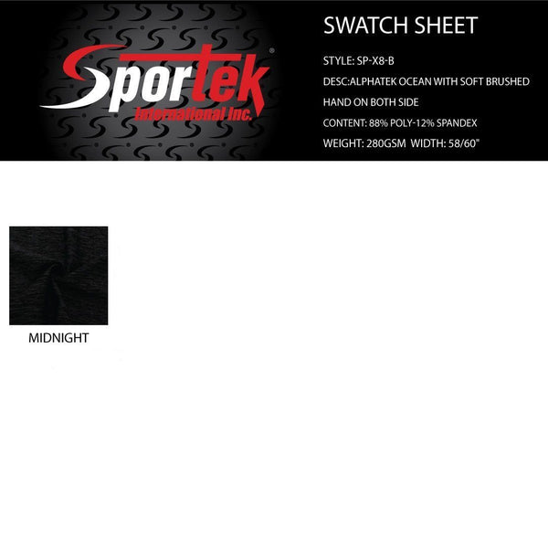 SP-X8-B Alphatek Ocean with soft brushed hand on both sides | yoga pants and yoga bras