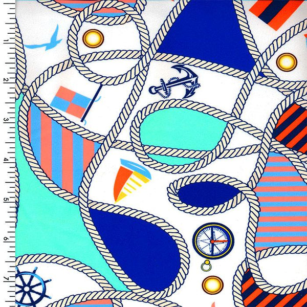 SP-NP2691 White Blue Red Black Printed Spandex
