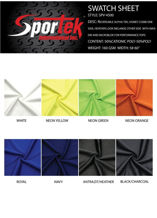 SP-V4500 |Moisture Management Mesh and PQ | Reversible Alpha-Tek | Honey Comb one side| Heather Look Melange other side  for Performance Tops Spandex, Moisture Management Mesh and PQ- Spandexbyyard - fabrics, fabric for swimwear, fabric for yogawear, swimwear fabric, yogawear fabric, fabric sublimation, sublimation fabric, los angeles, california, usa, spandex, sale, swimwear, yoga wear, lycra, shiny, neon, printed, fabric by the yard, spandex lycra, nylon lycra, lycra fabric