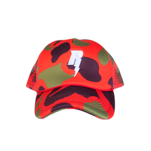"Load image into Gallery viewer, Revive Minds ""STATEMENT HAT"" ( RED CAMO)"