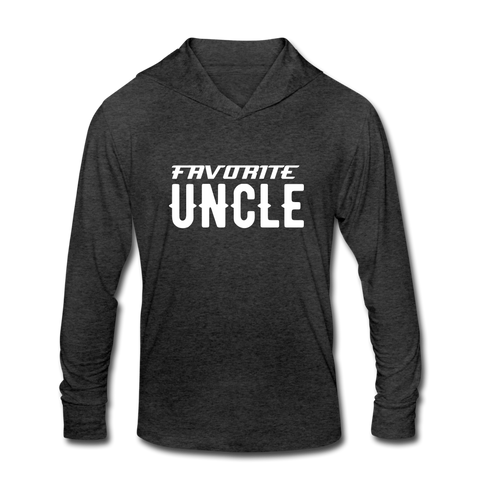 FAVORITE UNCLE Unisex Tri-Blend Hoodie Shirt - heather black