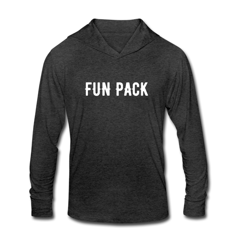 FUN PACK Unisex Tri-Blend Hoodie Shirt - heather black