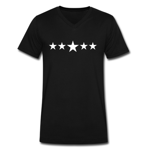 FIVE STAR Men's V-Neck T-Shirt by Canvas - black