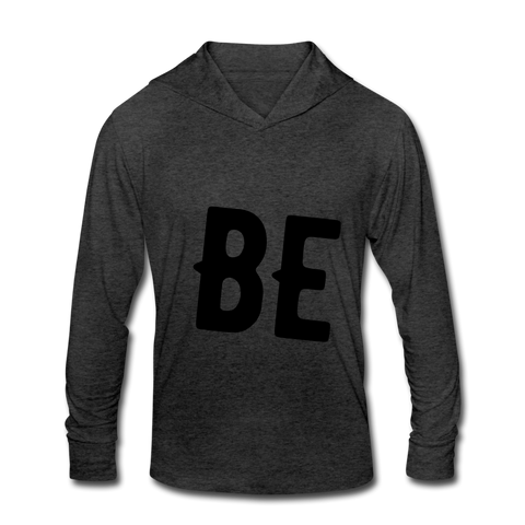 BE Unisex Tri-Blend Hoodie Shirt - heather black