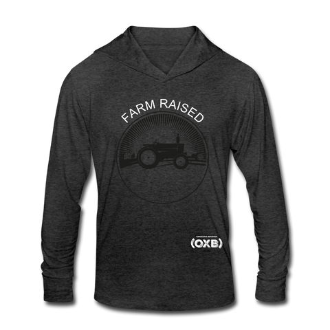 Farm Raised (OXB) Unisex Tri-Blend Hoodie Shirt - heather black