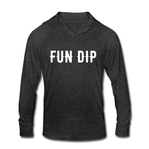 FUN DIP Unisex Tri-Blend Hoodie Shirt - heather black