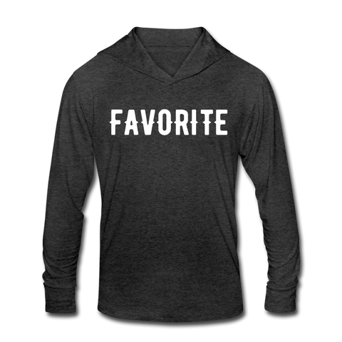 FAVORITE Unisex Tri-Blend Hoodie Shirt - heather black