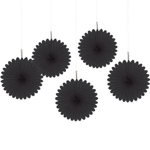 Black Mini Fan Decorations