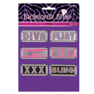 Bachelorette Party Bling Rings