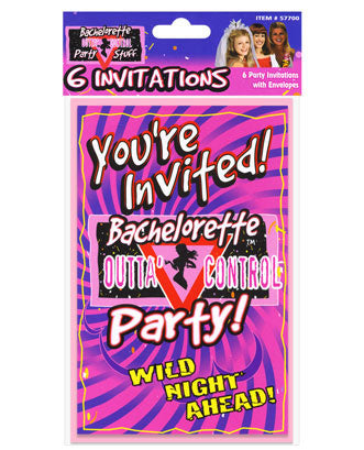 Bachelorette Outta Control Party Invitations