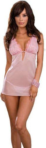 Dreamgirl Chiffon and Lace babydoll 6230 Small