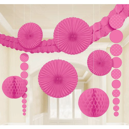 Bright Pink Dot Decoration Kit