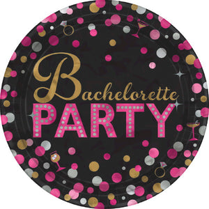 Bachelorette Party Confetti Plates