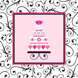 "Sweet Wedding 10"" Plate (18 Count)"