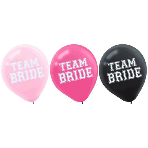 Team Bride Balloons (15 Count)