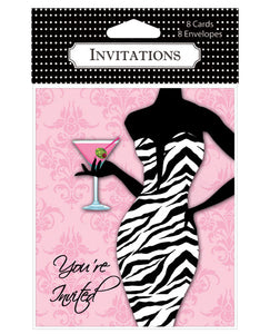 Zebra Dress Bachelorette Invites