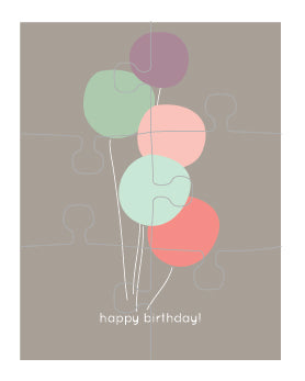 Balloons Puzzle Card (set of 6)