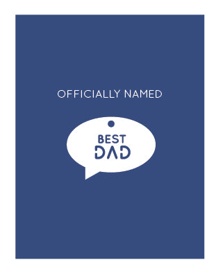 Best Dad Charm Card (6 units)